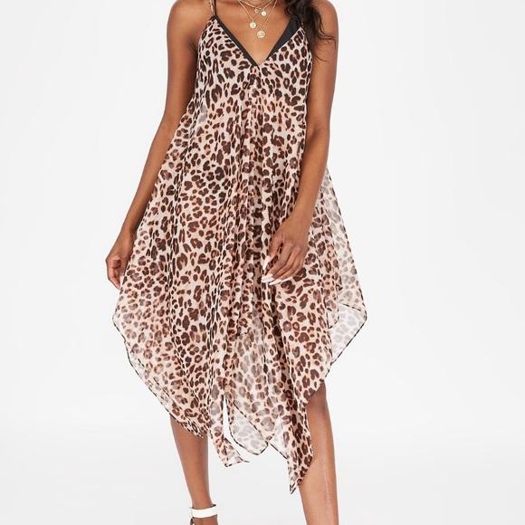 Leopard V- Neck Cover up dress